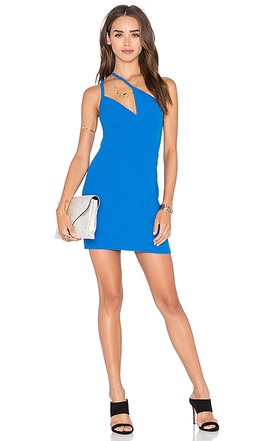 x Naven Twins Deep Angles One Shoulder Dress