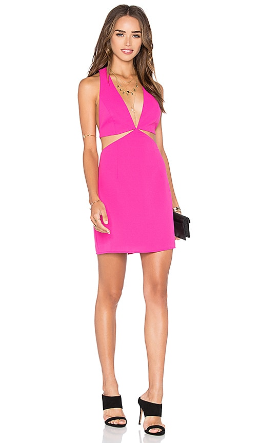 NBD x Naven Twins Vixen Halter Mini Dress in Pink