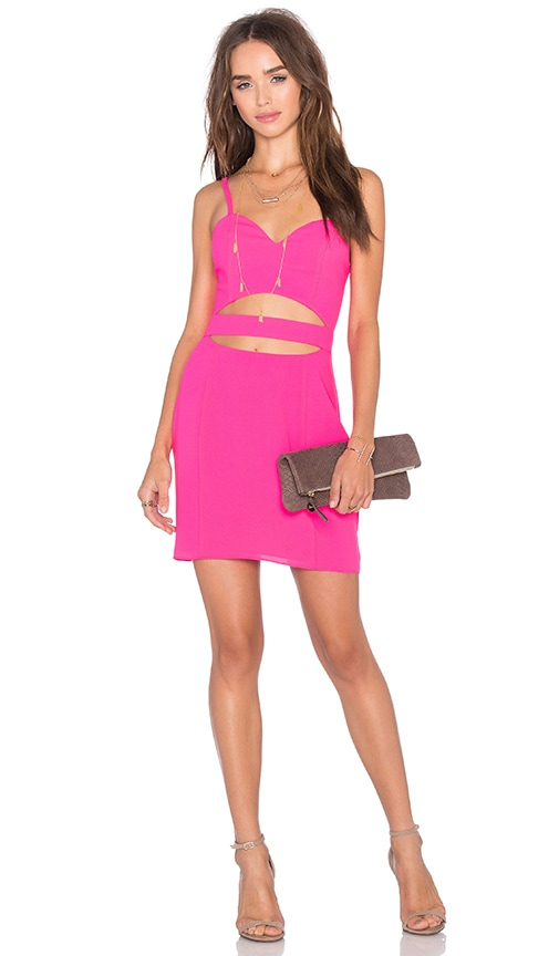 NBD x Naven Twins Cross It Off Bodycon Dress in Pink