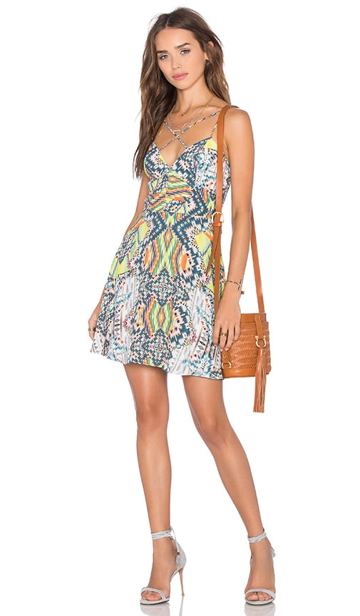x Naven Twins Summer Breaking Fit & Flare Dress