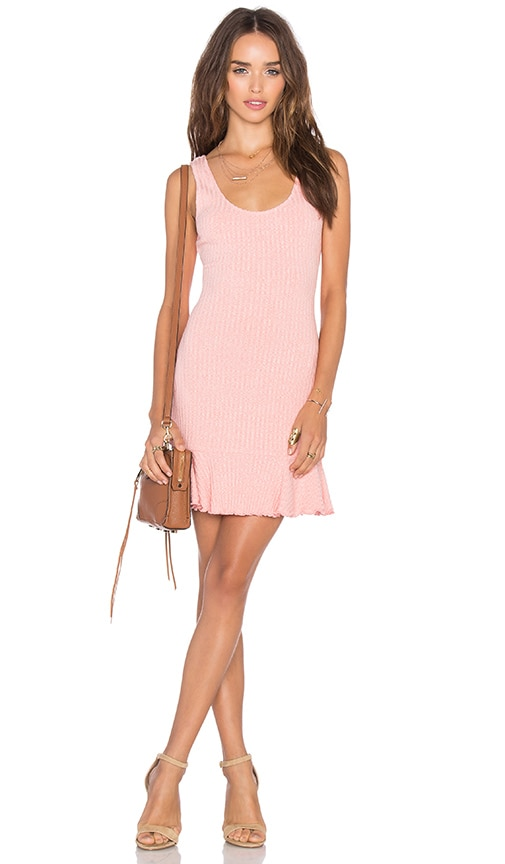 NBD There's Time Ribbed Dress in Pink