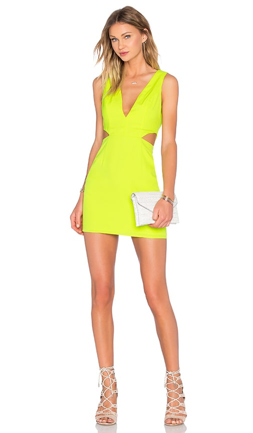 NBD x Naven Twins Sweet Dreams Dress in Lemon