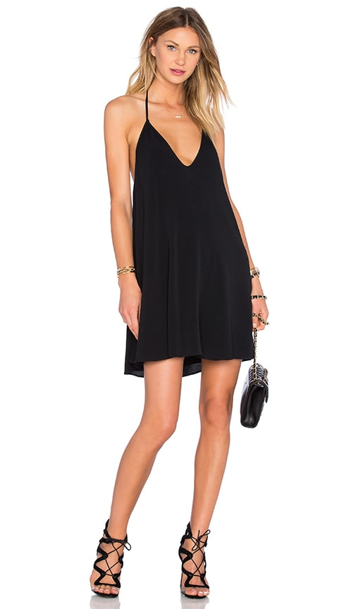 NBD x Naven Twins Swinging Volume Mini Dress in Black
