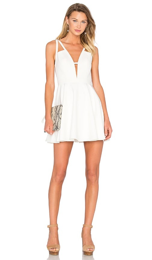 d80d209922 NBD X Naven Twins Let It Happen Fit   Flare Dress in White