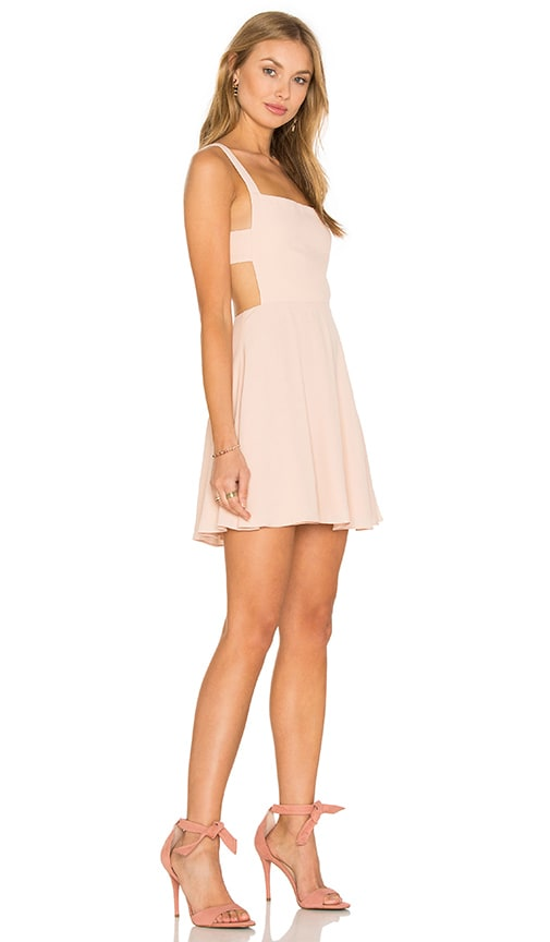 NBD x Naven Twins Take Care Apron Front Dress in Peach