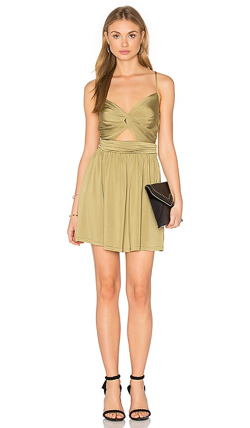 NBD Firestone Dress in Olive