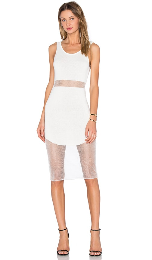NBD Shimmer Dress in White