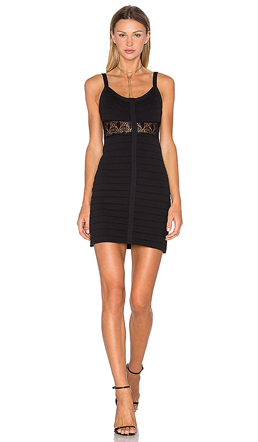 NBD x Naven Twins Bottle Service Bandage Dress in Black