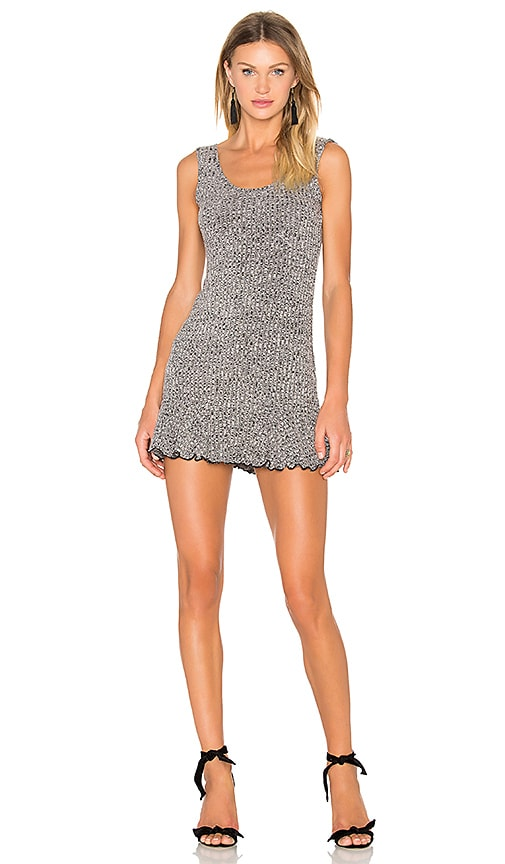 NBD x REVOLVE There's Time Ribbed Dress in Gray