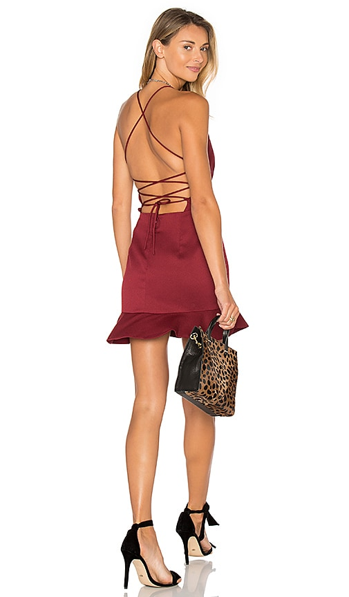 NBD x REVOLVE Marilyn Dress in Burgundy