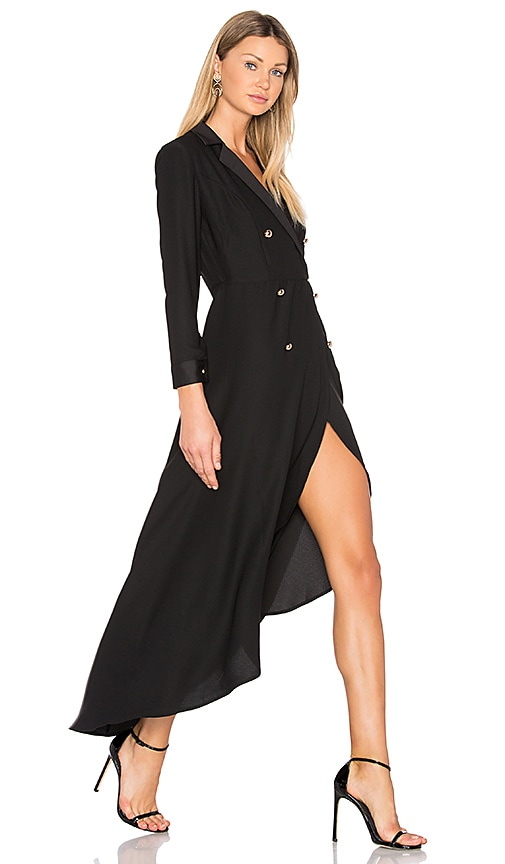 NBD Alexa Wrap Dress in Black