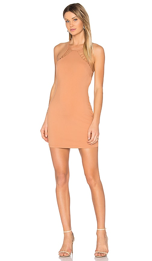 NBD Hudson Mini Dress in Beige