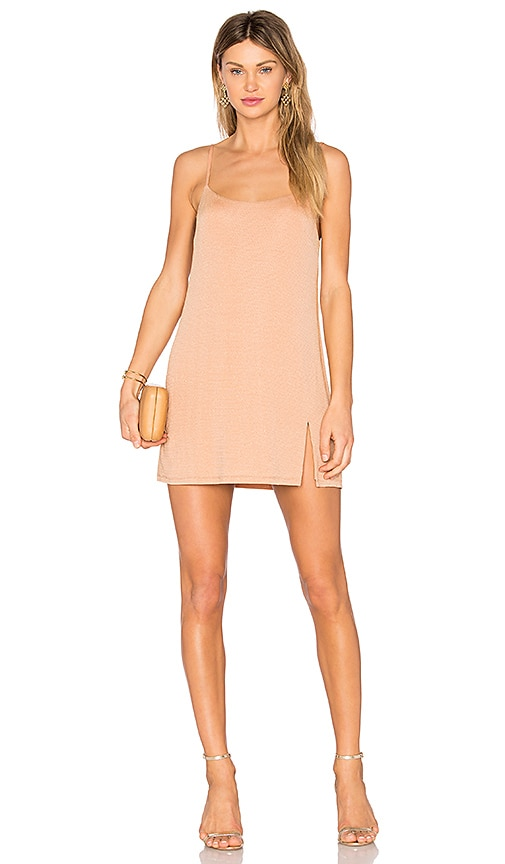 NBD Jaxon Mini Dress in Beige