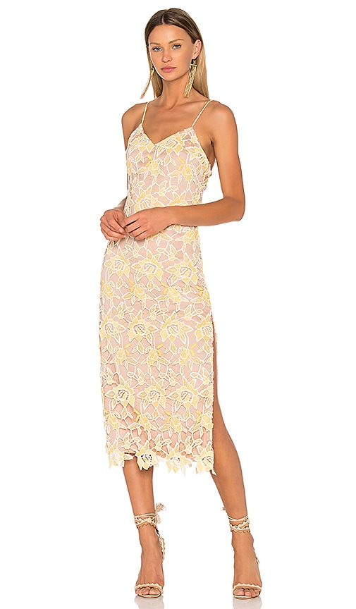 NBD Donna Dress in Yellow