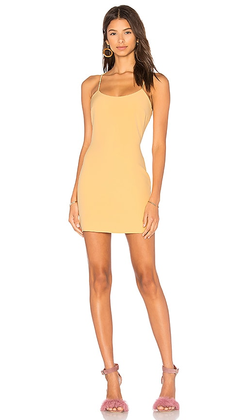 NBD Aria Mini Dress in Yellow