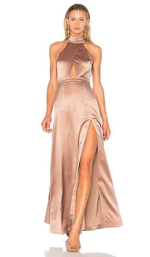 8c6865af163 NBD x REVOLVE Zendaya Gown in Warm Steel