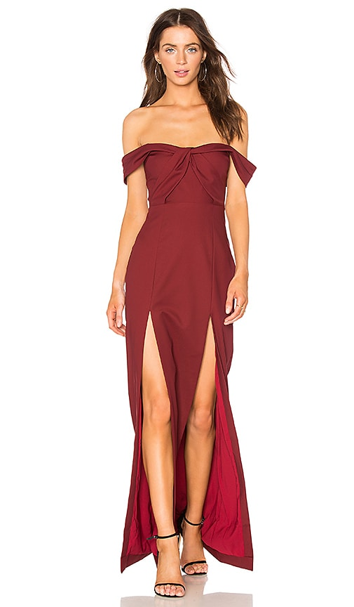 NBD x REVOLVE Corah Gown in Burgundy