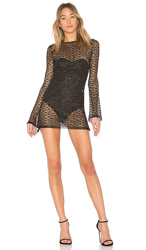 NBD Paisley Dress in Black