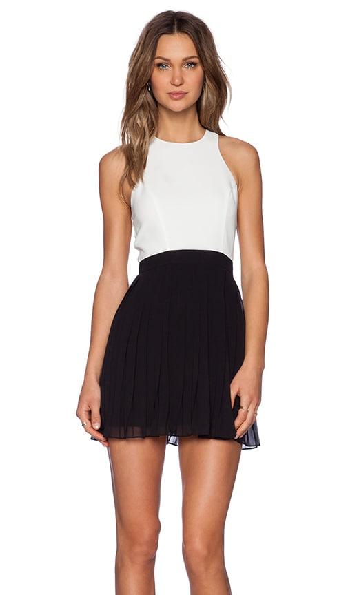 NBD What A Tease Dress in Ivory & Black