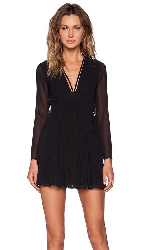 NBD Pretty Pleats Dress in Black