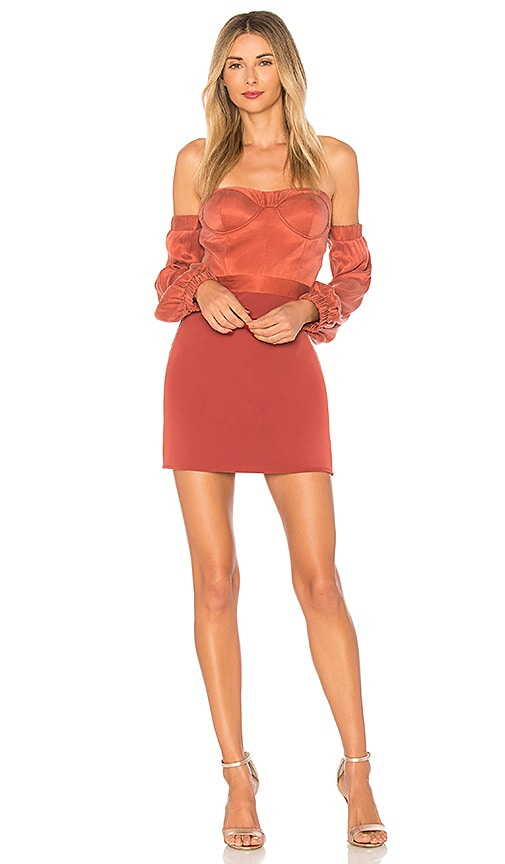 NBD Sandy Dress in Rust