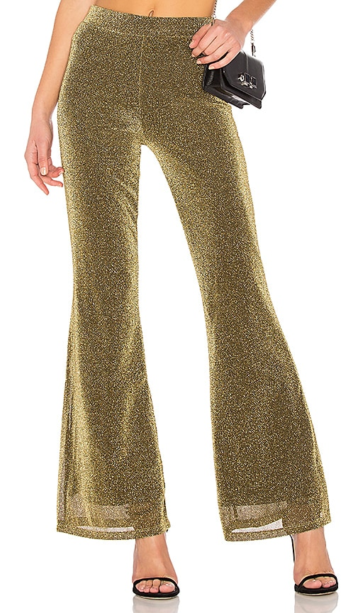 NBD x REVOLVE Dora Pant in Metallic Gold