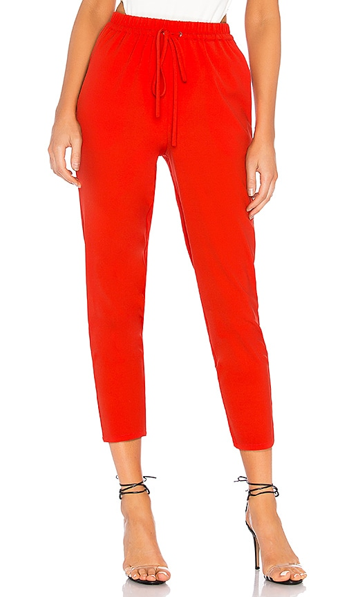 Red Drawstring Trousers