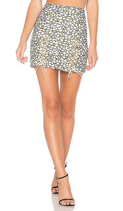 Daisy Embroidered Mini Skirt