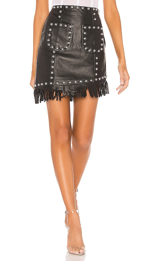Laeticia Leather Mini Skirt