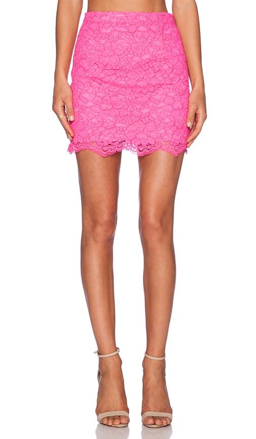 NBD x Naven Twins Princessa Skirt in Neon Pink