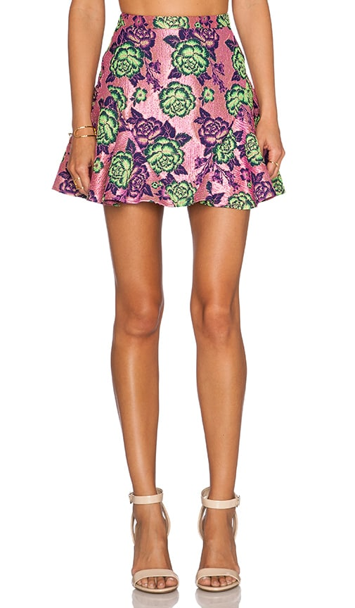 NBD If I Could Mini Skirt in Pink Floral