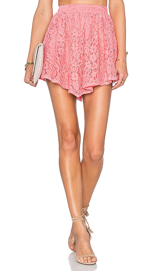 NBD Make Me Blush Skirt in Coral