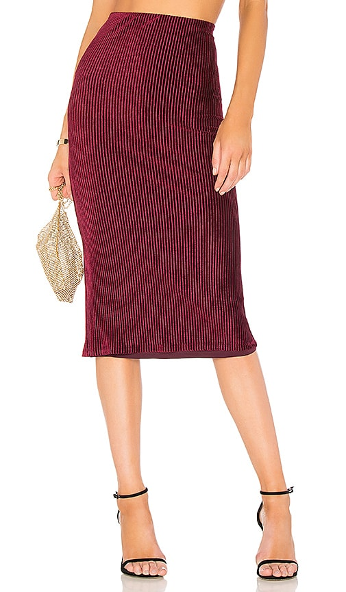 NBD x REVOLVE Avery Skirt in Burgundy