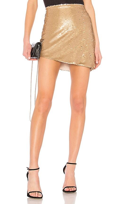 NBD Angel Skirt in Metallic Gold