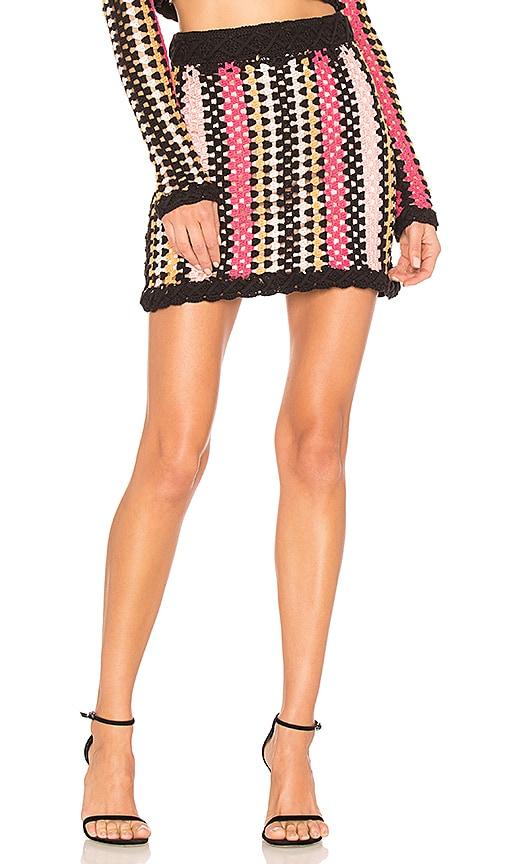 NBD Weylyn Skirt in Tonal Coral & Black | REVOLVE