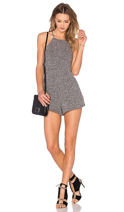 NBD Thank Me Later Romper in Gray