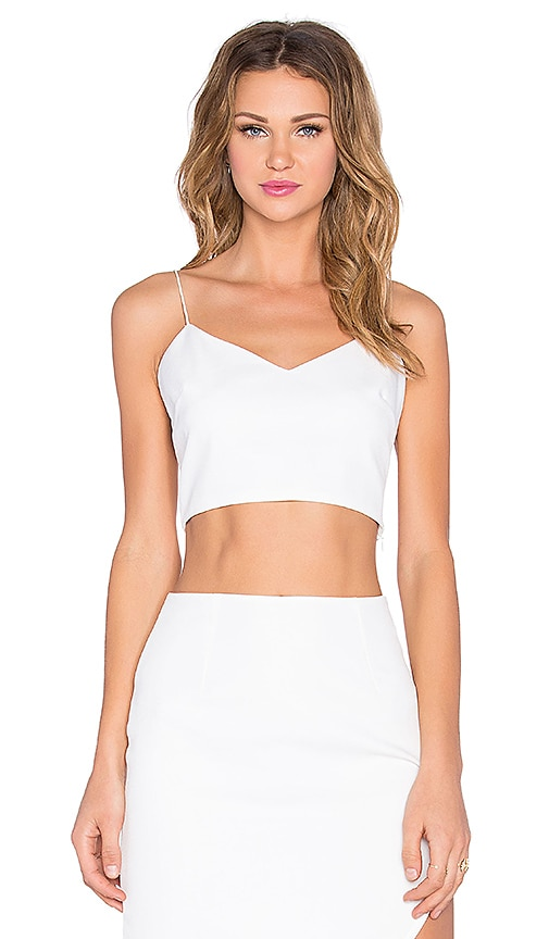 NBD Glam Crop Top in White