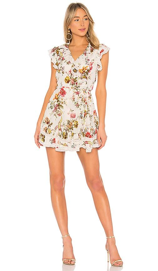 Needle & Thread Rainbow Rose Dress in White