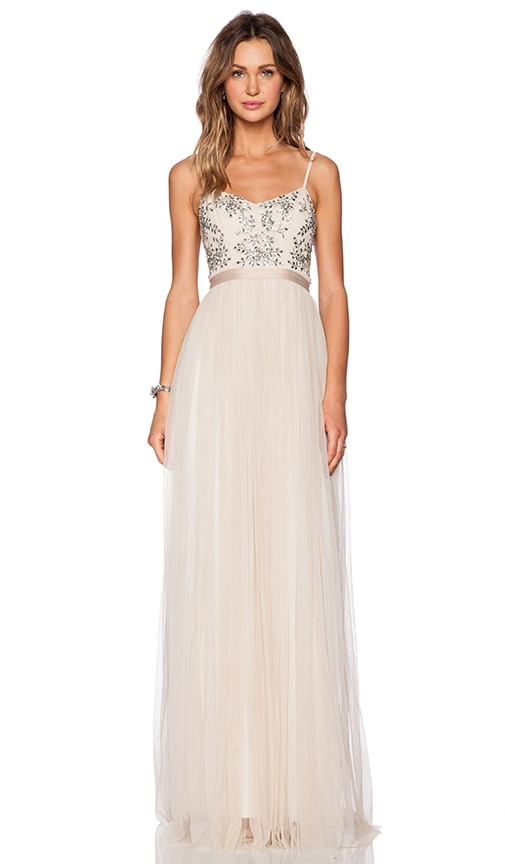 Crystal Petal Maxi Dress