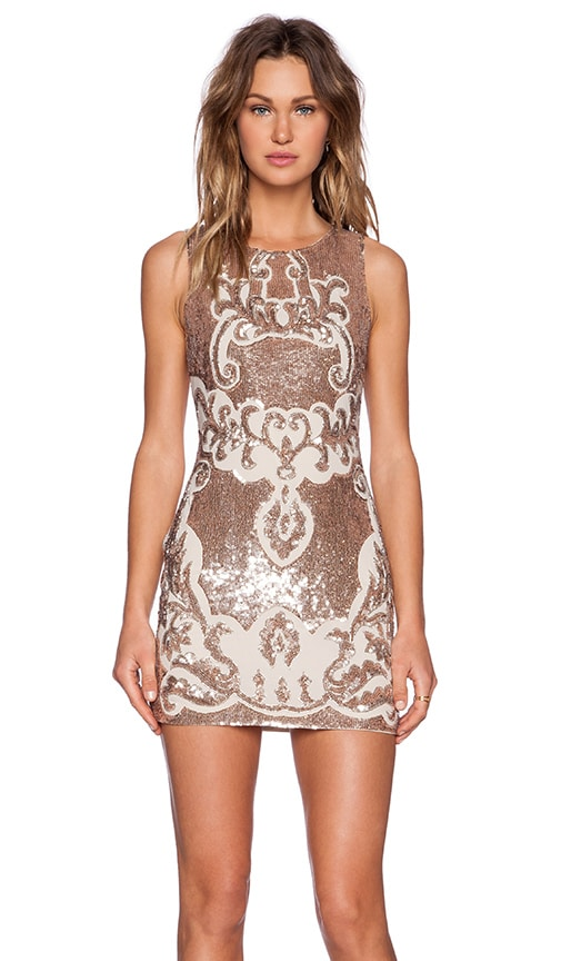 Motif Sequin Dress