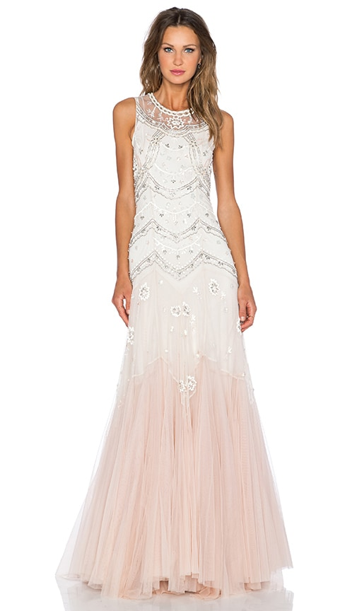 Tulle V-Cut Gown