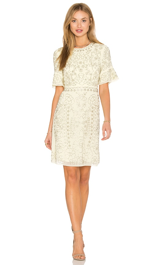 Linear Motif Embellished Dress