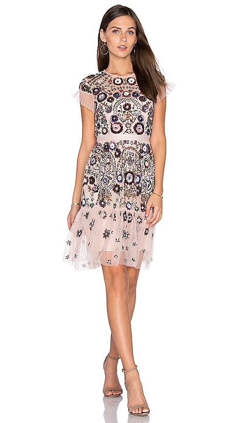 Needle & Thread Enchanted Lace Dress in Pink