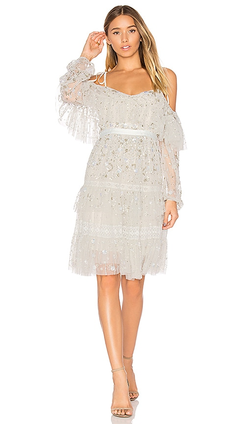 Needle & Thread Supernova Dress in White