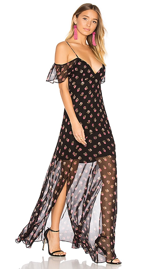 Needle & Thread Prairie Ditsy Maxi Dress in Black