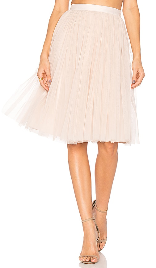 Needle & Thread Tulle Midi Skirt in Pink