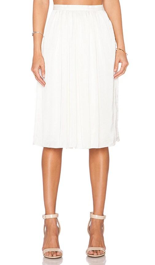 Needle & Thread Pandora Midi Skirt in Cream