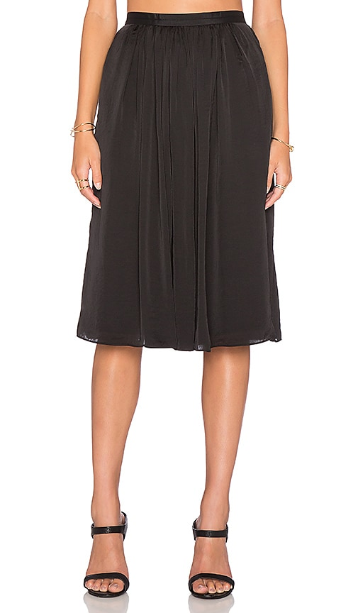 Needle & Thread Pandora Midi Skirt in Black