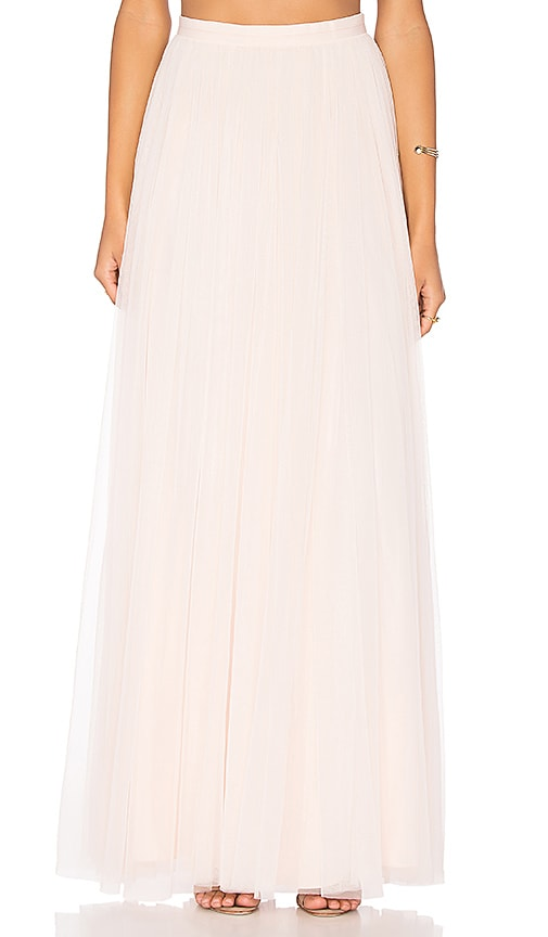 Needle & Thread Tulle Maxi Skirt in Pink