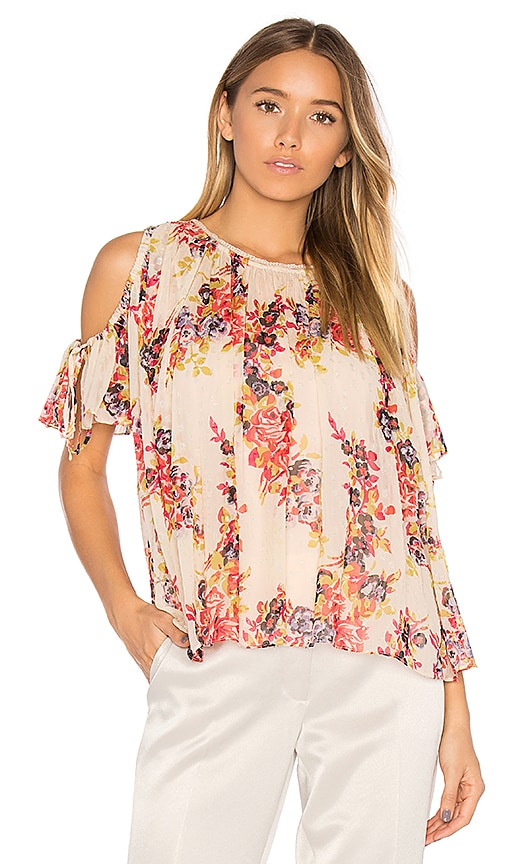 Needle & Thread Prairie Rose Top in White